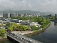 Hiroshima Peace Museum 34 - view of the Peace Park, Museum and A-Bomb Dome